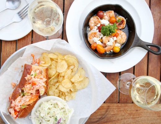 lobster roll and shrimp
